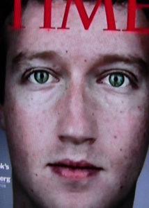 Eine Titelseite der Time, mit Mark Zuckerbergs Gesicht