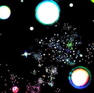 Planeten, Sterne und andere Himmelkörper im Weltraum